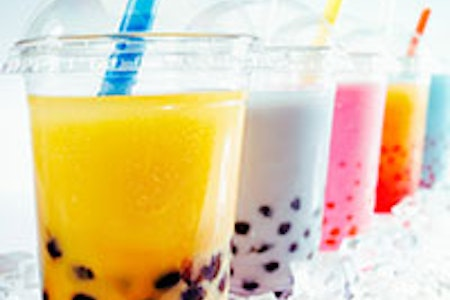 Bubble tea and popping boba