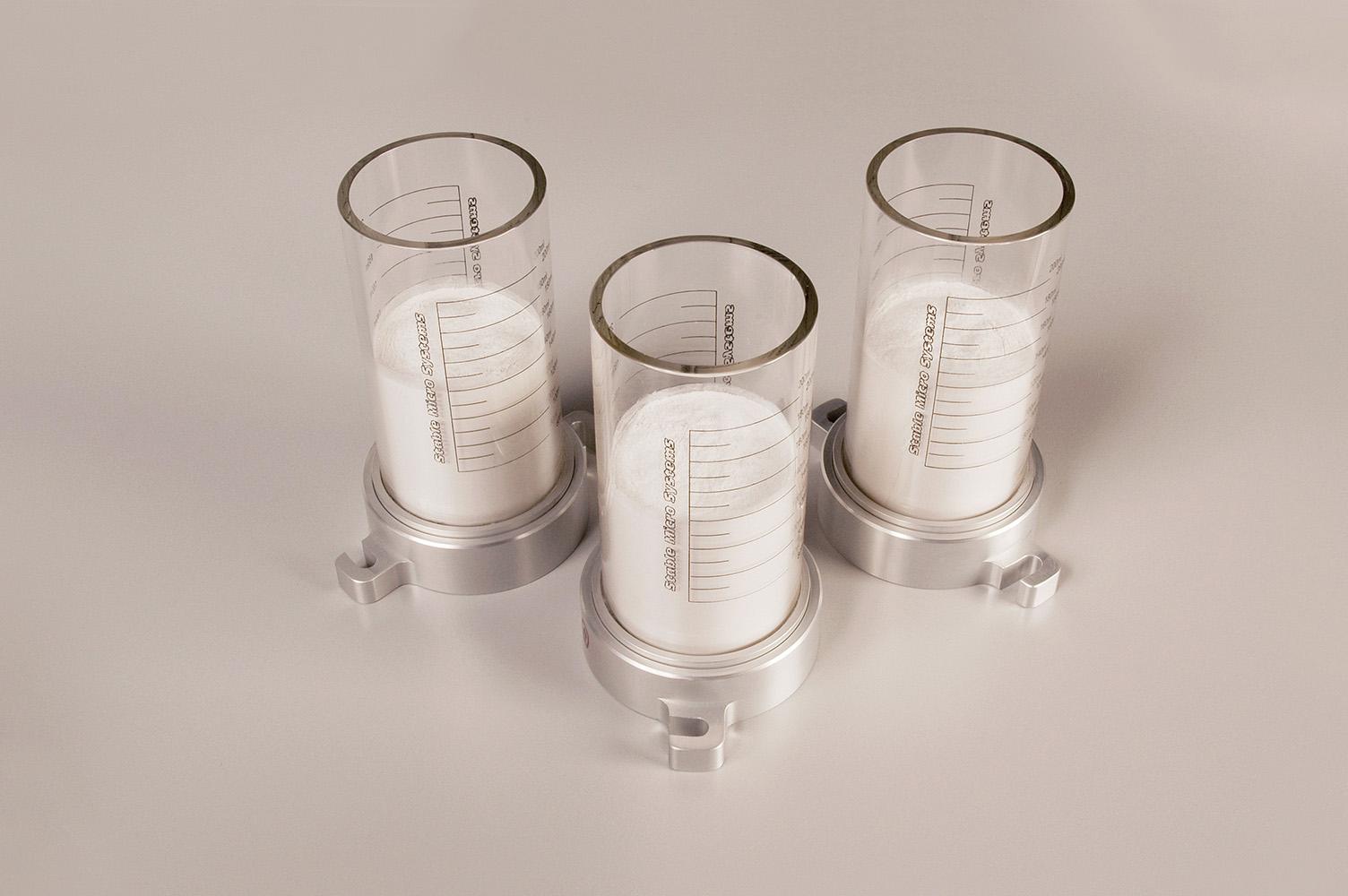 image of powder flow analyzer vessels