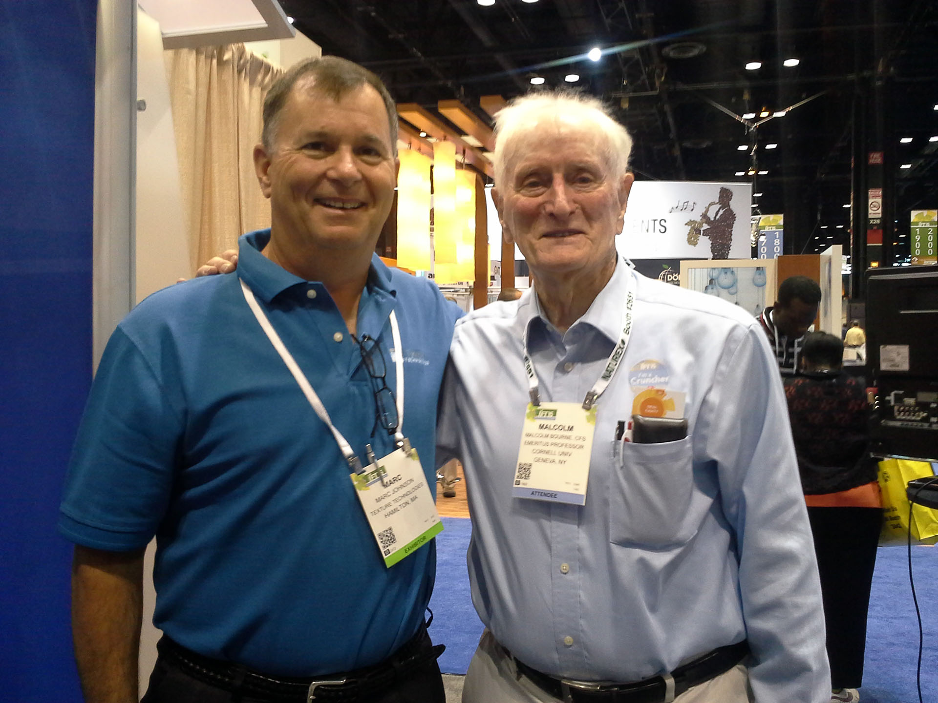 Malcolm Bourne and Marc Johnson at IFT 2015