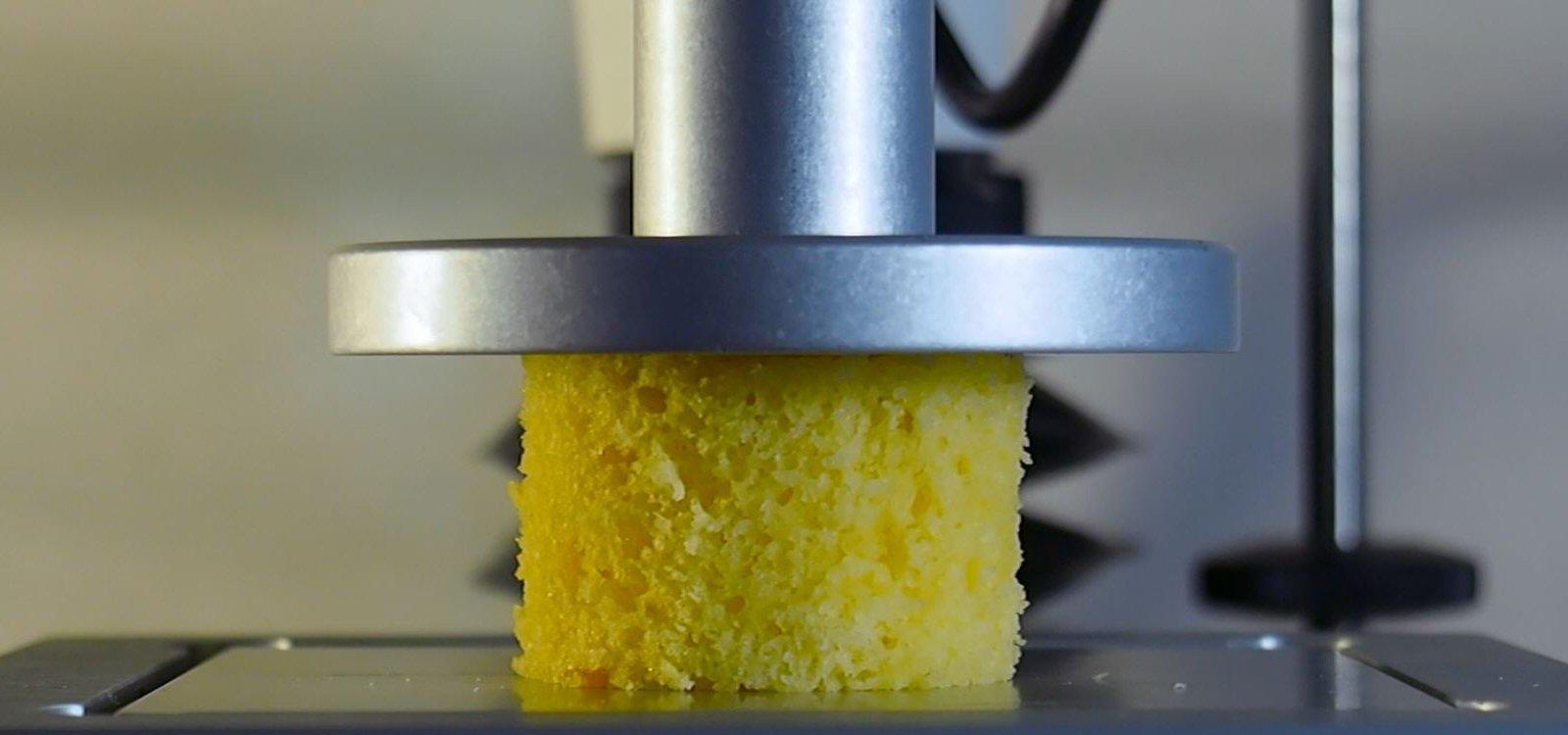 pound cake, precompression